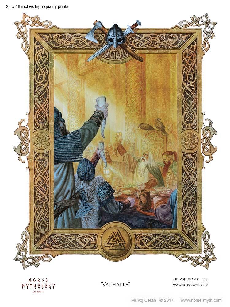 Norse-Mythology-print-003-Valhalla-24-x-18