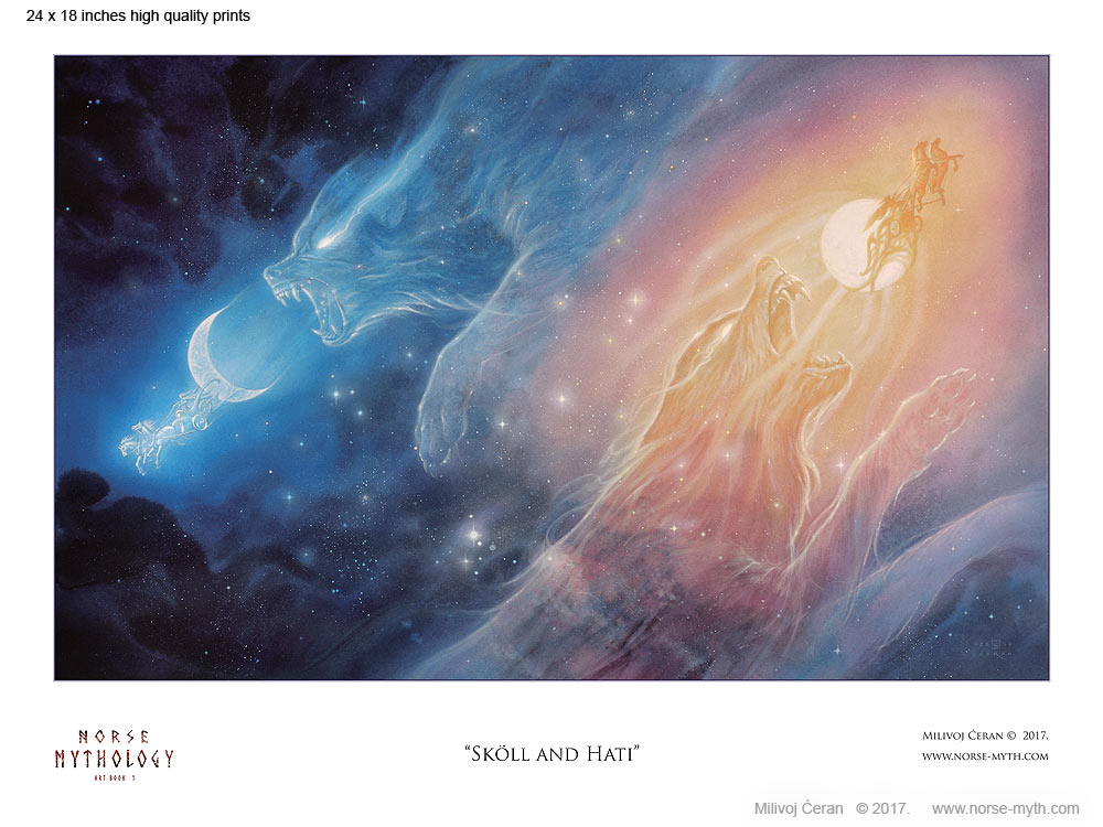Norse-Mythology-print-004-Skoll-and-Hati-24-x-18