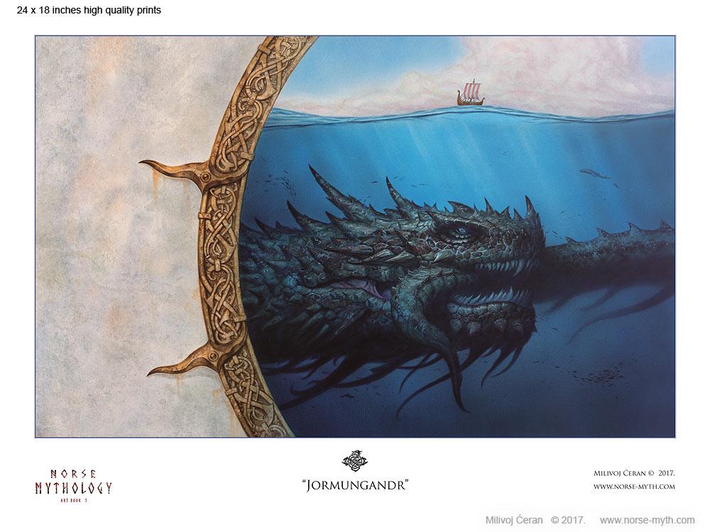 Norse-Mythology-print-010-Jormungandr-24-x-18
