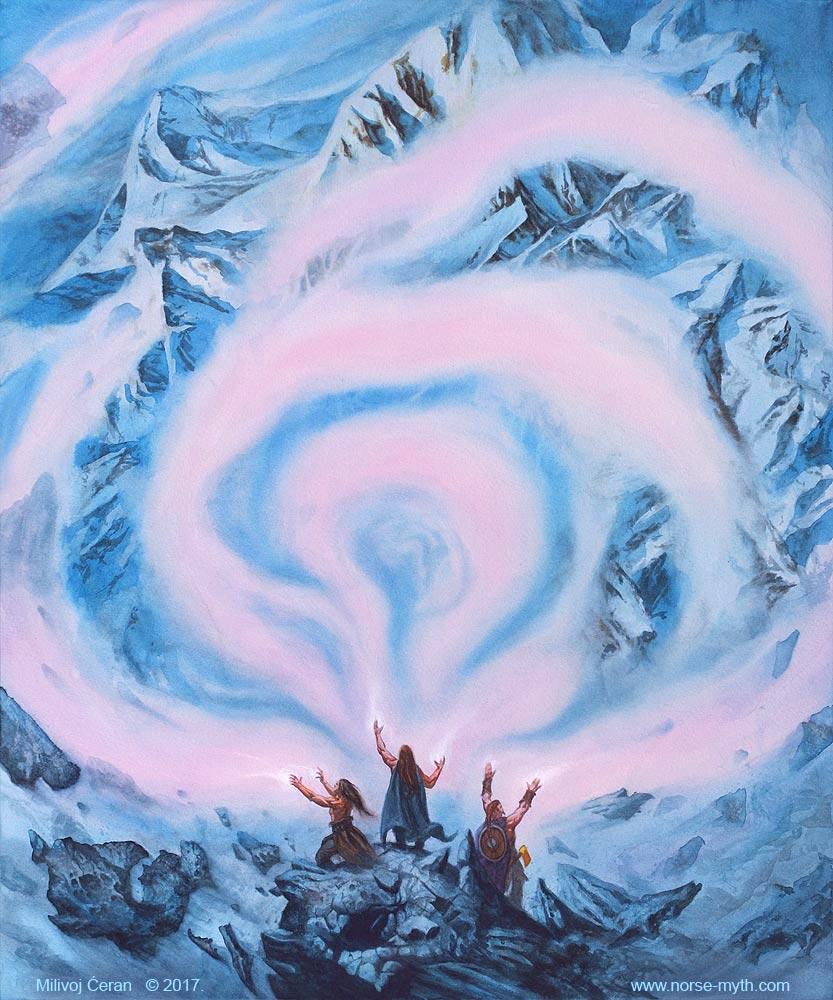 MCeran-Odin-Vili-and-Ve-create-9-worlds